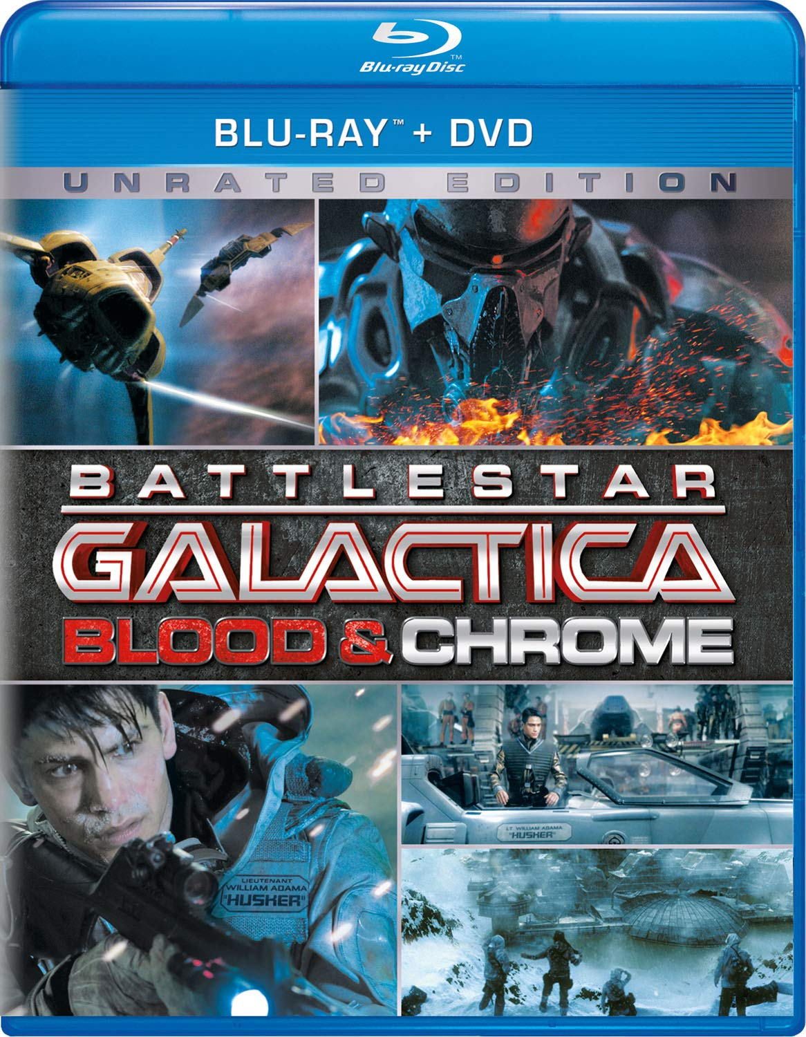 Blu-ray : Battlestar Galactica: Blood & Chrome (2 Pack, Unrated Version)