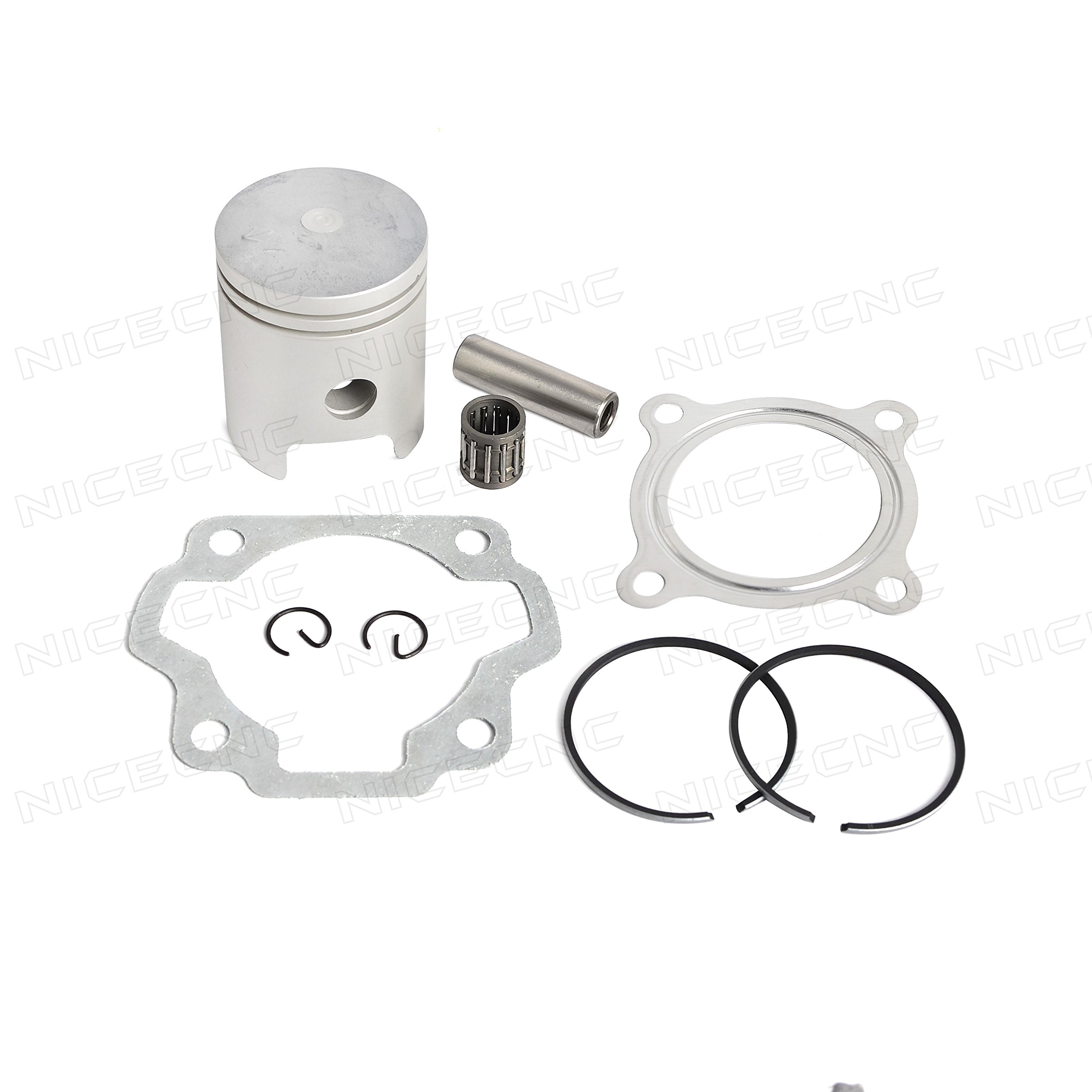 NICECNC Piston Ring Kit Gasket Wrist Pin Bearing Set for Dirt Bike YAMAHA PW80 1985-2006