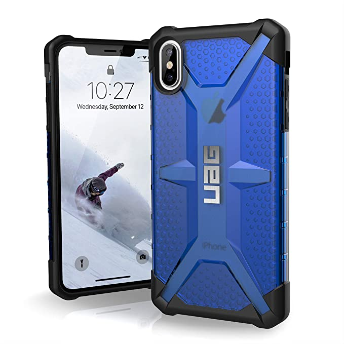 reputable site 3ca88 0f950 URBAN ARMOR GEAR UAG iPhone Xs Max [6.5-inch Screen] Plasma Feather-Light  Rugged [Cobalt] Military Drop Tested iPhone Case