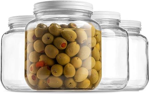 Amazon.com: Tarro de vidrio de media galón (64 onzas) de ...