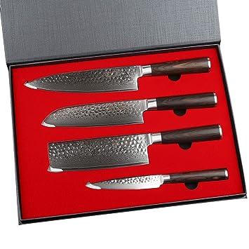 Yarenh 4 Pièces Set Couteaux Professionnelcouteaux De Chef En Acier