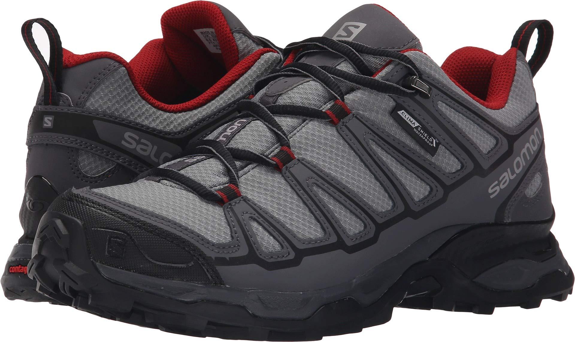 Salomon Men's X ULTRA PRIME CS Waterproof Athletic Shoe, pearl grey, 8.5 M US