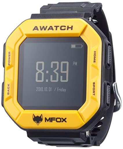 MFOX AWATCH - IP68 Heart Monitor Watch, Android 4.3 OS, Bluetooth ...