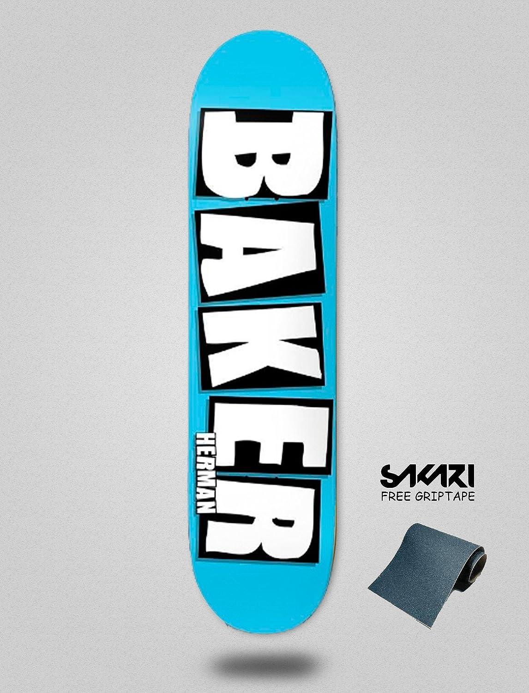 Amazon.com   Baker Herman Brand Name Baby Blue 8.0 monopatin Skate  Skateboard Deck   Sports   Outdoors 14ce4bffda7