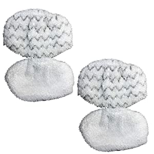 Reinlichkeit-4 Pack Washable Mopping & Scrubbing Pads Replacement for Bissell Powerfresh 1940 1440 1544 Series Steam Mop Model 1544A, 2075A, 1440, 1940W,19404, Deluxe 1806, 1940A, 5938, 19408, 1940Q