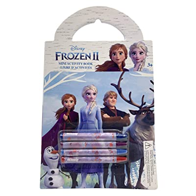 Danawares Frozen 2 Mini Activity Book with 4 Crayons Age/Grade 3+: Toys & Games