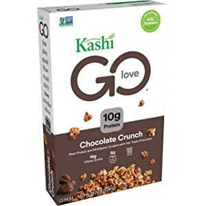 Kashi GO, Breakfast Cereal, Chocolate Crunch, Vegan, 12.2oz Box