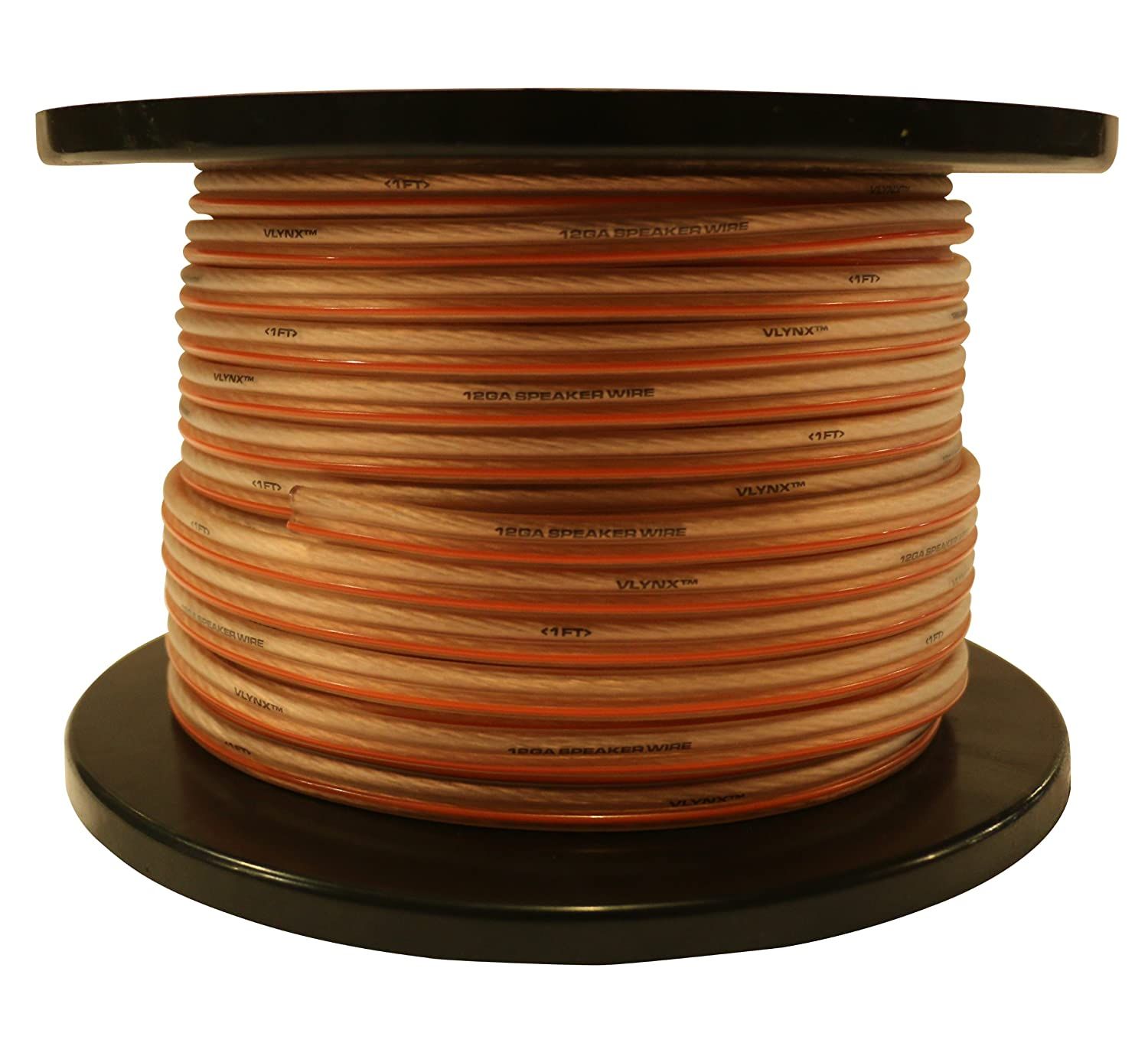 12 Gauge 200ft Speaker Wire audio installation TRUE 12GA Vlynx soft cable spool VLYNX12-200-1