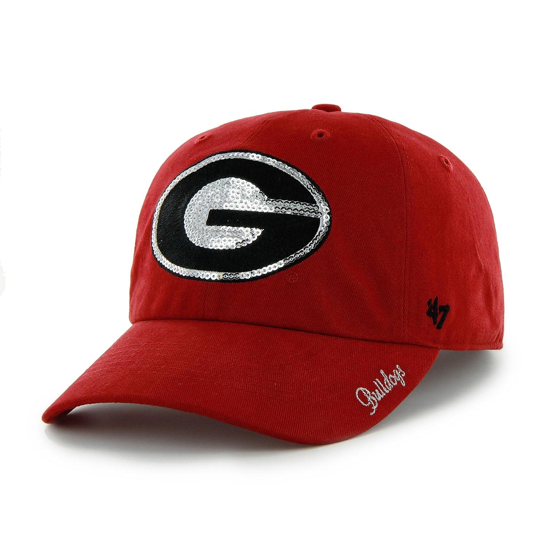ccbe8bd8288 Amazon.com   NCAA Georgia Bulldogs Women s  47 Sparkle Sequin Clean Up Adjustable  Hat
