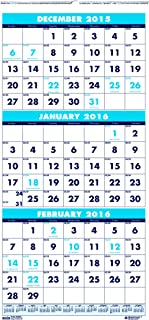 """product image for House of Doolittle Three-Month Compact Calendar, December 2015 to January 2017, 8"""" x 17"""" (HOD3646-16)"""