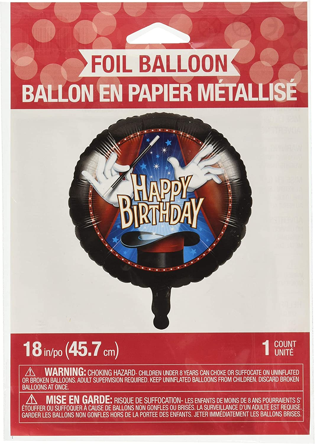 Amazon Com Creative Converting 324434 Magic Party 18 Happy Birthday Foil Balloon One Size Multicolor Toys Games