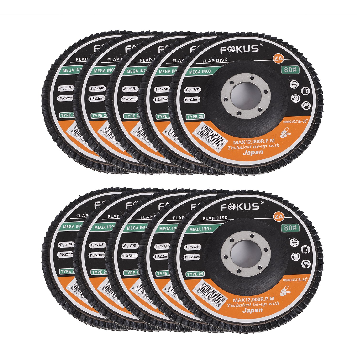 "Fokus 5 PACK 4-1//2/"" x 7//8/"" Easy Strip Discs Quick Change Clean  Remove Paint and"
