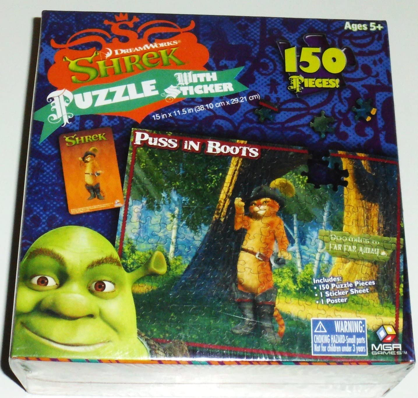 150 pieces Puss in Boots Puzzle from Shrek the Movie