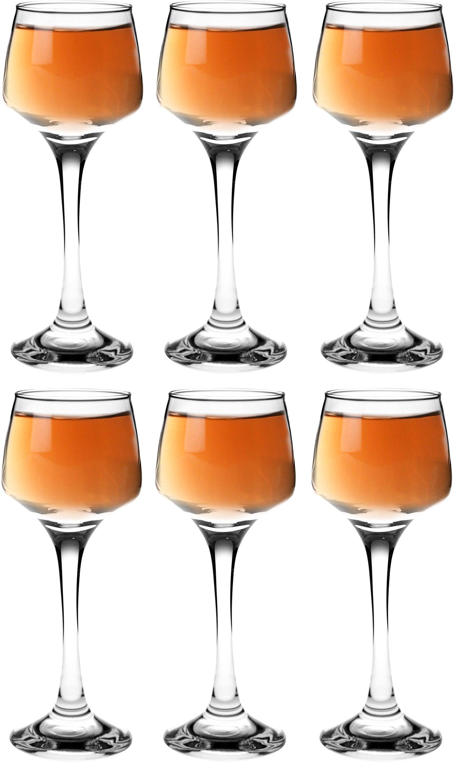Argon Tableware Sherry / Liqueur Glasses - 80ml (2.8oz) - Gift Box Of 6