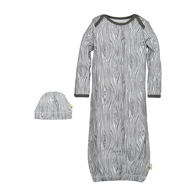 Amazon.com: Burt\'s Bees Baby Baby Organic Gown and Cap Set, Charcoal ...