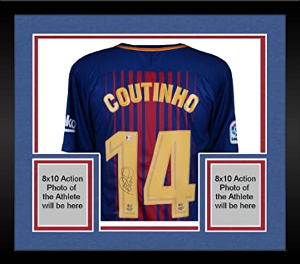 0845ccb0ecb Framed Philippe Coutinho Barcelona Autographed Nike Home Jersey - Fanatics  Authentic Certified - Autographed Soccer Jerseys at Amazon's Sports  Collectibles ...
