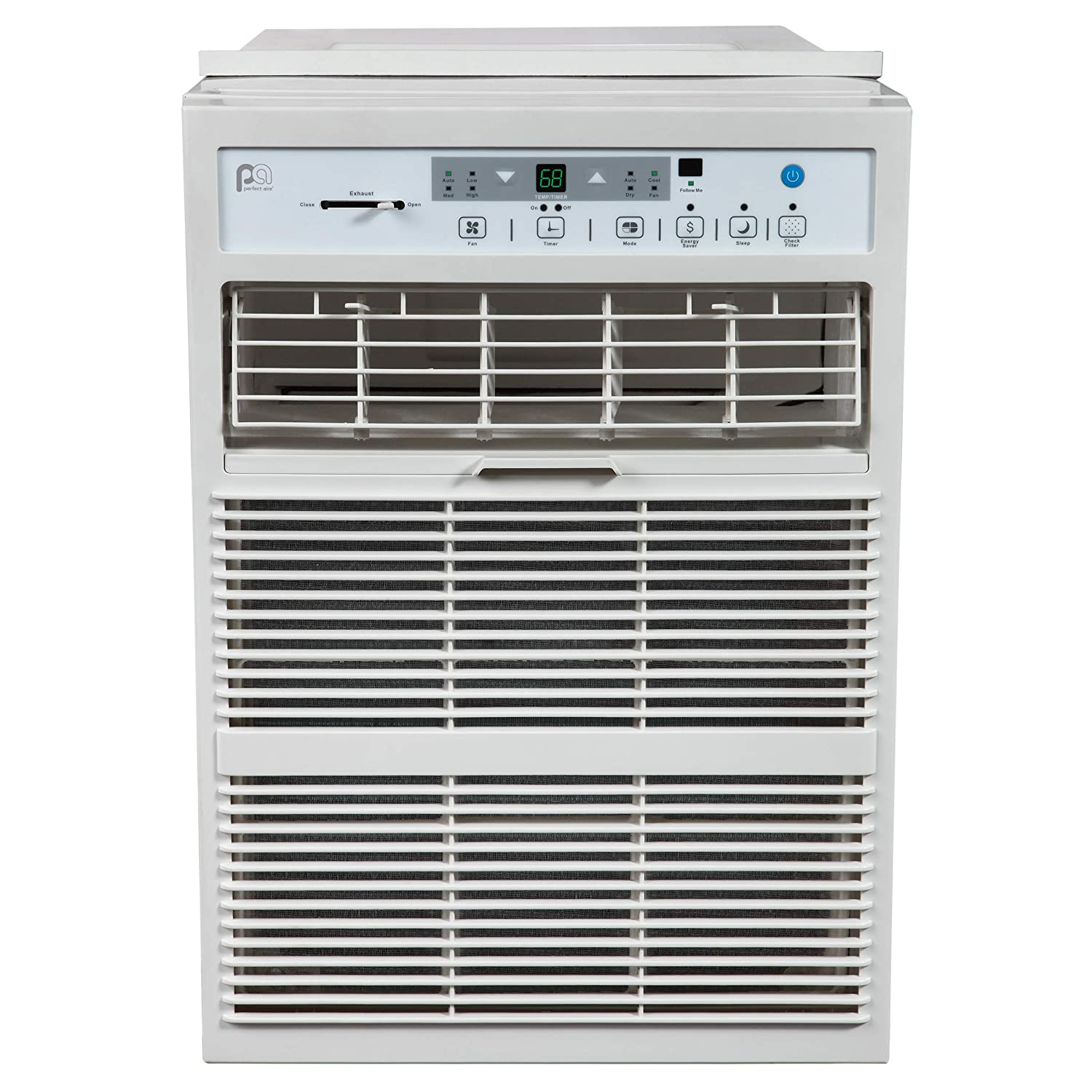 PerfectAire 3PASC10000 10,000 BTU Window Air Conditioner with Remote, EER 9.5, 400-450 Sq. Ft. Coverage Perfect Aire