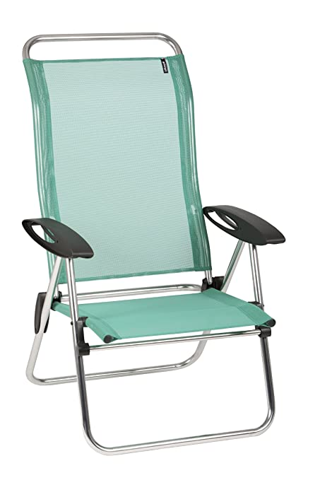 Elegant Lafuma Low Elips   Alu Brut Aluminum Frame   Emeraude Batyline Fabric    Folding Beach Chair