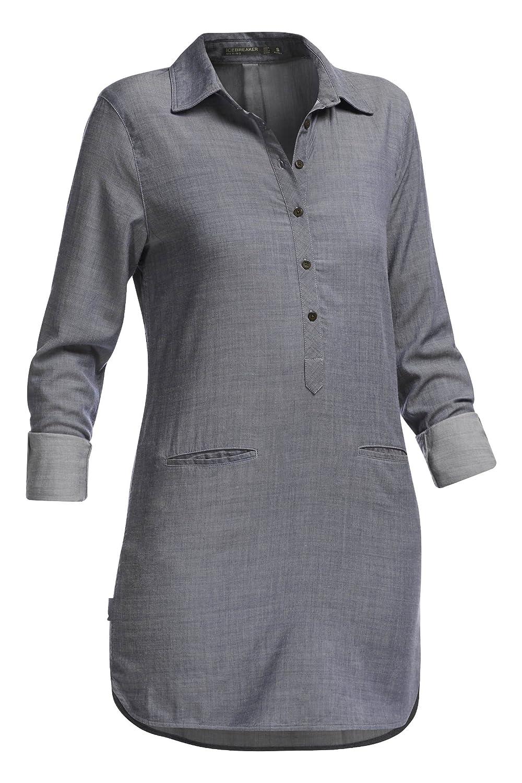 Fathom Heather//Jet Heather Icebreaker Womens Kala Dress Small