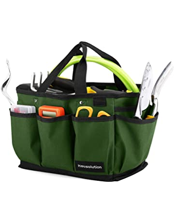 Housolution Gardening Tote Bag, Deluxe Garden Tool Storage Bag and Home Organizer with Pockets,