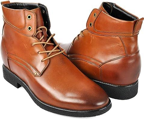 9,5 cm /Botas Hombre de Vestir Botas de Piel Hombre Botines Hombre Zerimar Botas de Hombre con Alzas Que Aumentan su Altura