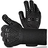 VTARCZA BBQ Gloves Heat Resistant Kitchen Oven Mitts Professional Long Heat Resistant Cooking Gloves for Grill,Grilling…