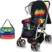 Babygo Delight Reversible Baby Stroller and Pram (Rainbow)