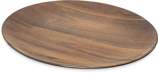 Carlisle EAG0469 Epicure Melamine Acacia Wood Grain Oval Serving Platter Plastic 18u0026quot; x  sc 1 st  Amazon.com & Amazon.com: Carlisle EAG0469 Epicure Melamine Acacia Wood Grain Oval ...
