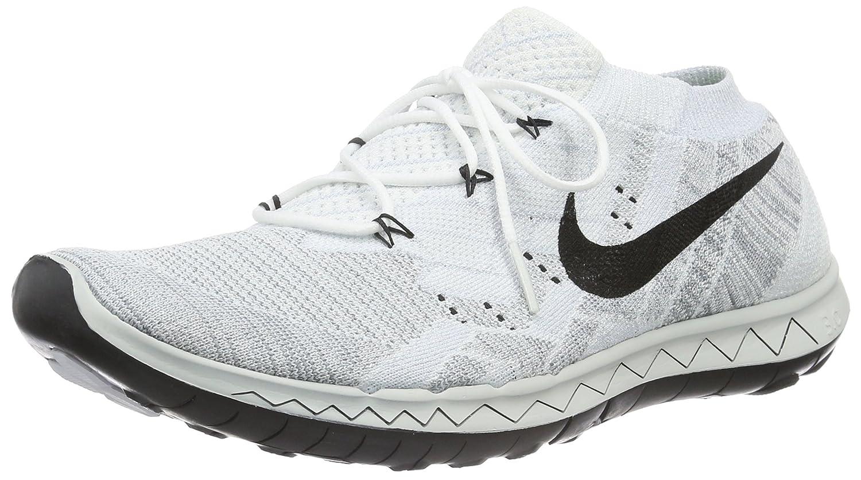 Nike free 3.0 flyknit men US 10 white running shoe UK 9 EU 44