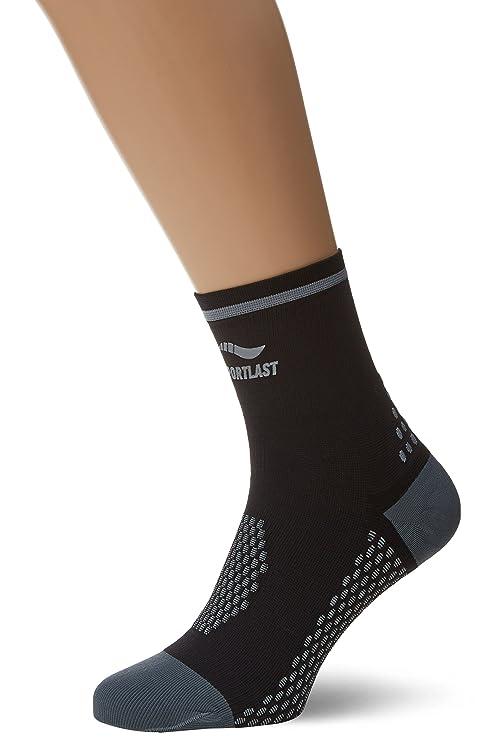 Sportlast Premium Calcetines para Ciclismo, Negro/Gris, M