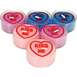 Love Hearts 6-Piece Tealights, Multi-Colour