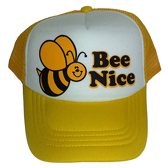 8994577b16901 ThatsRad Toddler Bee Nice Bumble Mesh Trucker Hat Cap Youth Yellow   Amazon.ca  Clothing   Accessories