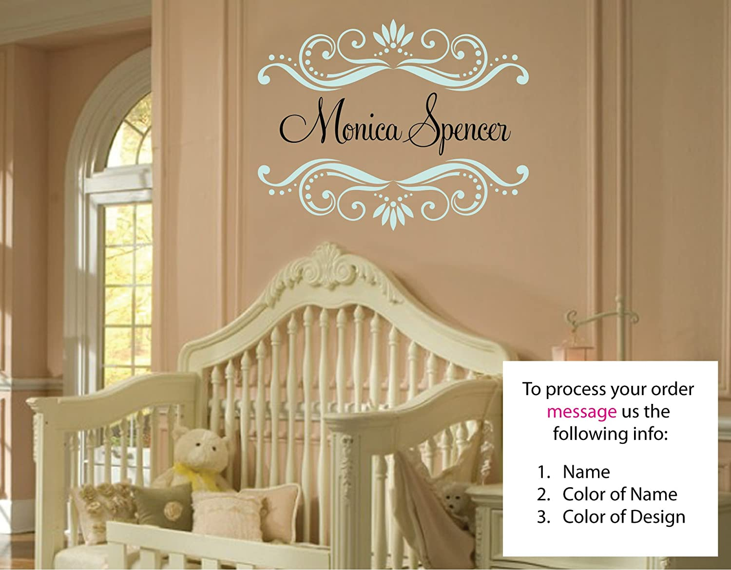Amazon.com: Monica Spencer Wall Decal Childrens Personalized Name ...