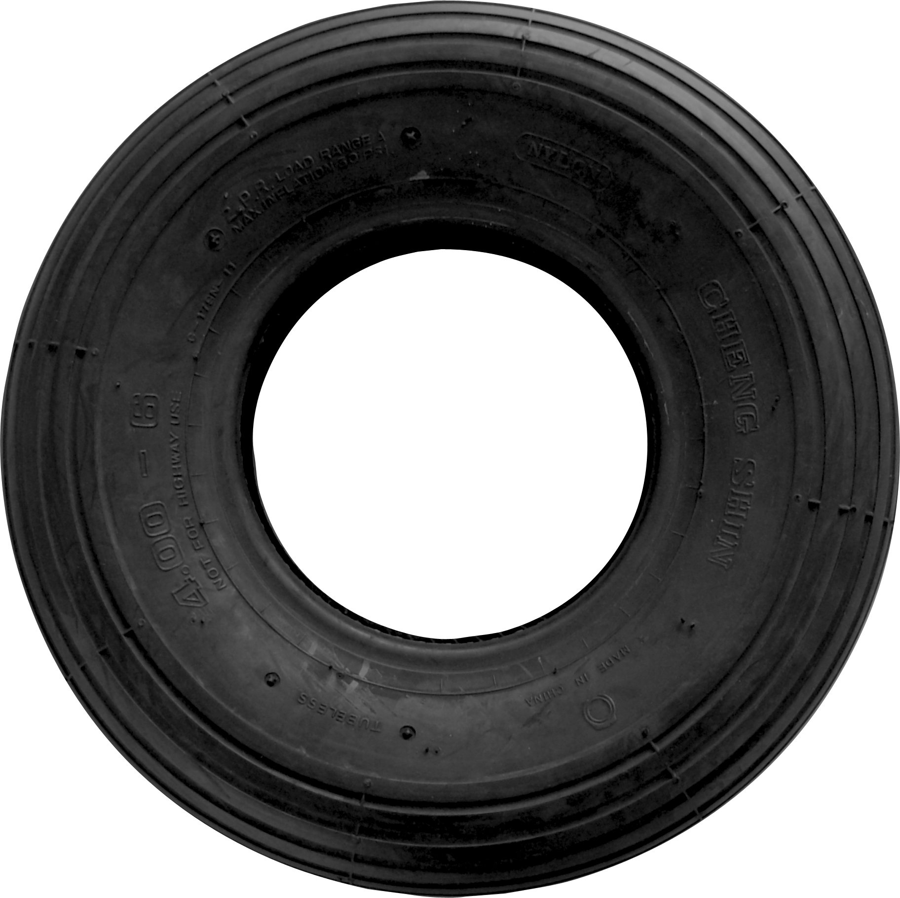 Shepherd Hardware 3338 4.80/4.00x8-Inch Wheelbarrow Replacement Tire, 16-Inch, Ribbed Tread
