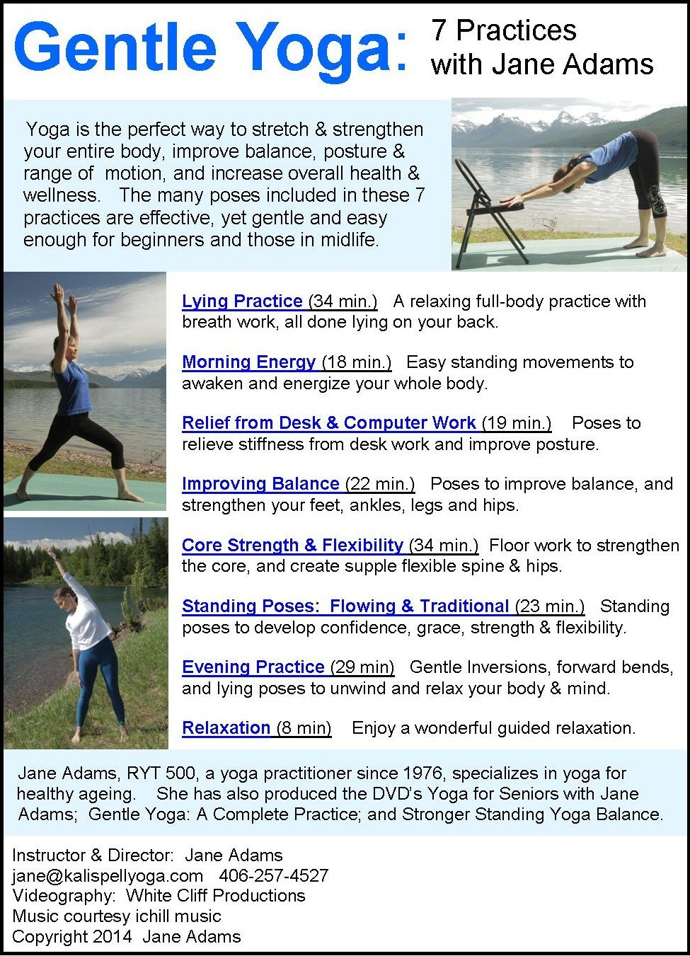 Amazon.com: Gentle Yoga: 42 Beginning Yoga Practices for Mid-life