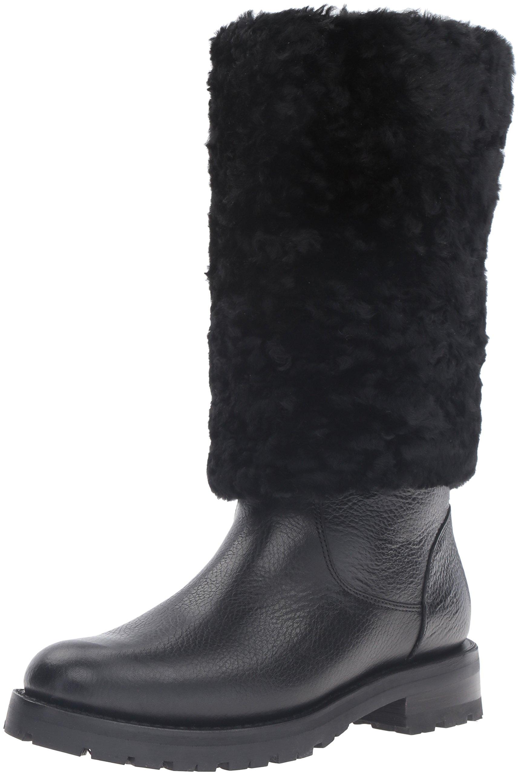FRYE Women's Natalie Cuff Lug Winter Boot, Black, 8 M US