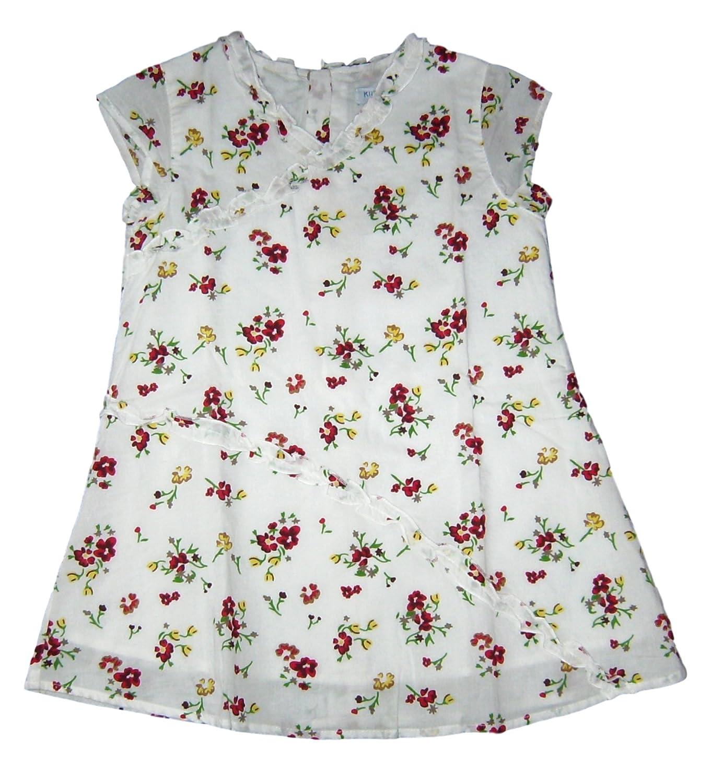 Klitzeklein Sommerkleid Kleid Gr 86 creme weiß mit Blumen