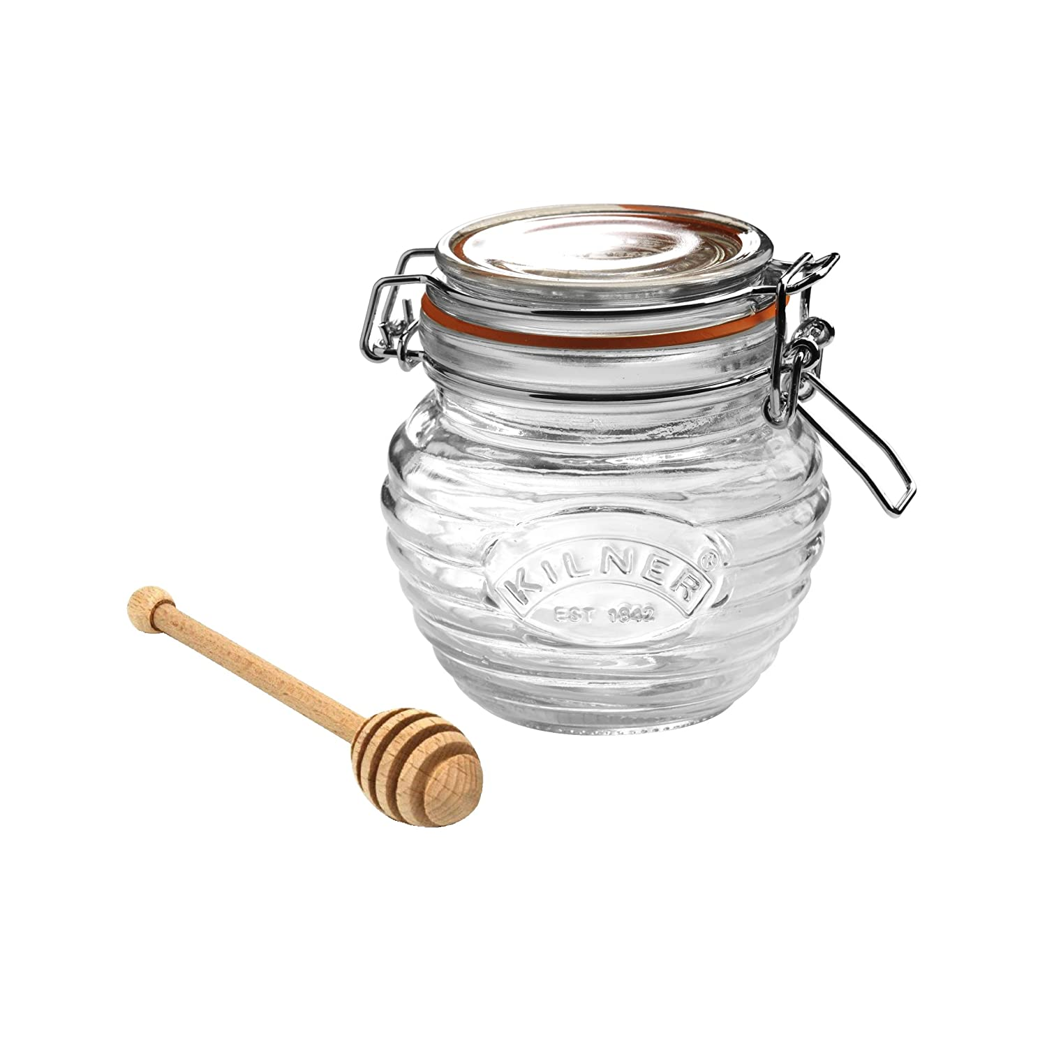 amazon com kilner honey pot with dipper 13 5 fluid ounces kitchen