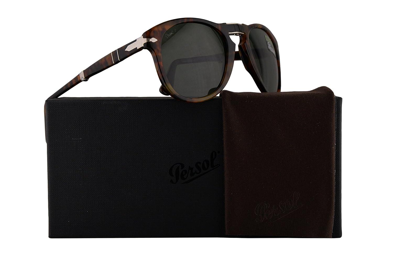 b021345abe Amazon.com  Persol PO0714S Folding Sunglasses Caffe w Polarized Green Lens  52mm 10858 PO 0714S PO0714-S PO 0714-S  Clothing