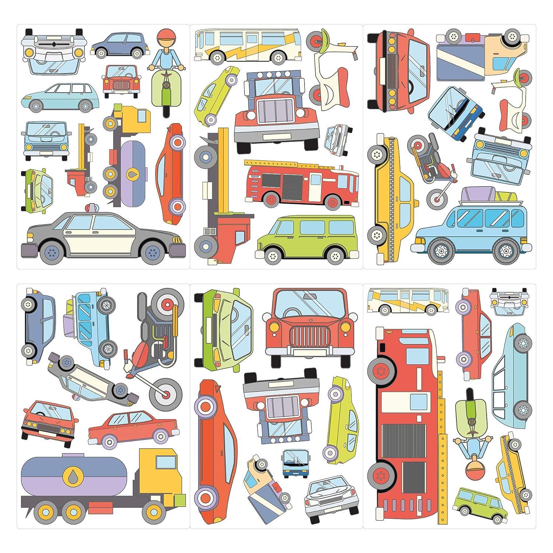 Children S Home Furniture Busse Und Montertrucks Set Kinderzimmer Deko Wandtattoo Autos Credify One