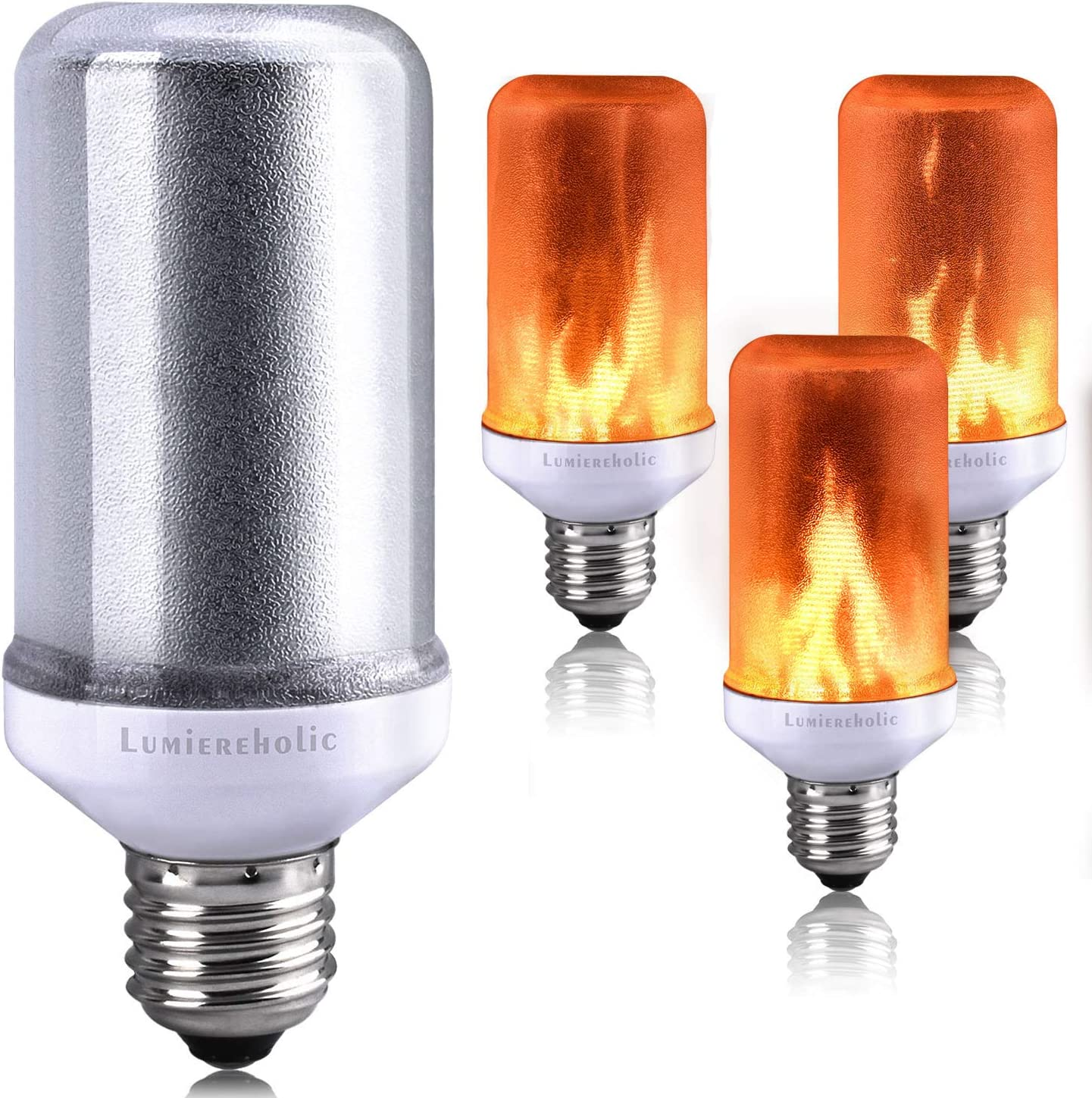 E14 E27 LED Flicker Fire Flame Candle Light Bulbs Atmosphere Bar Home Decor Lamp