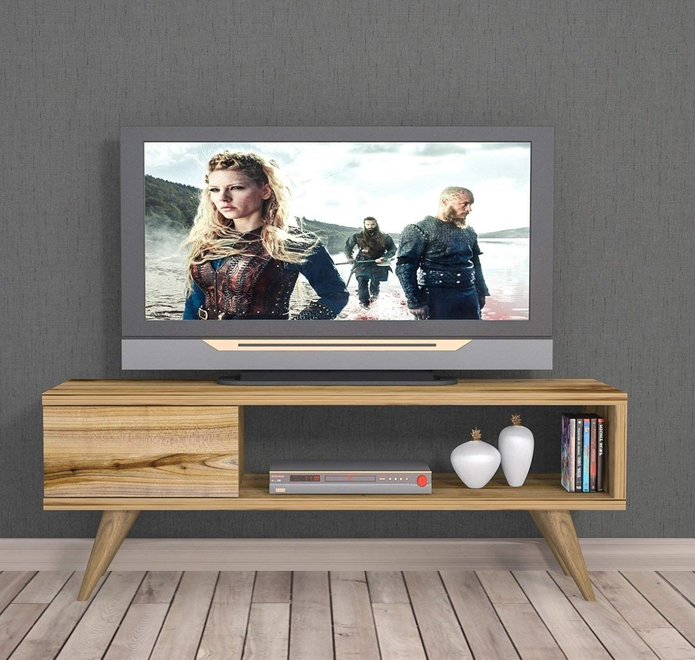 Inca Tv Stand Natural Wood Colour Tv Lowboard Tv Unit Board