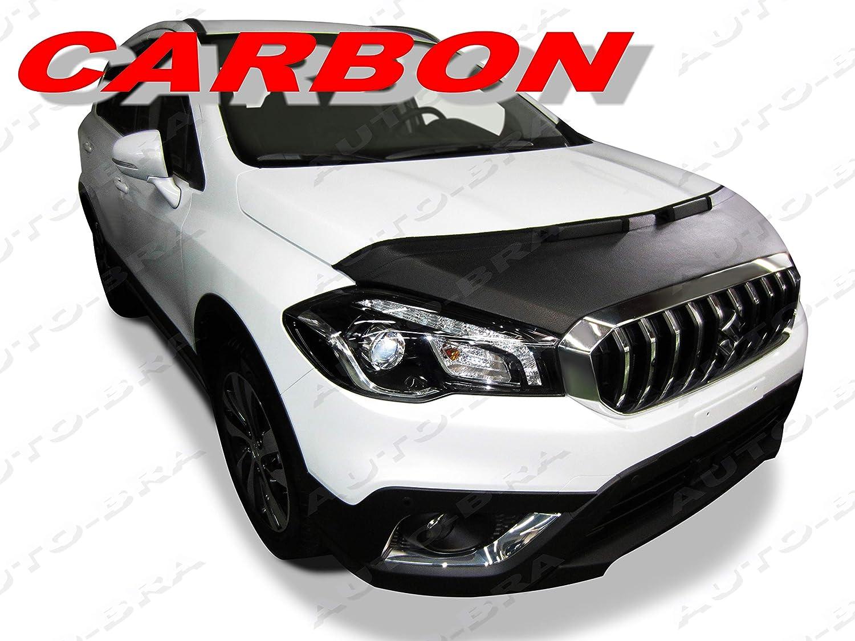AB3-00095 CARBON OPTIK BRA SX4 S-Cross 17 Haubenbra Steinschlagschutz Tuning Bonnet Bra