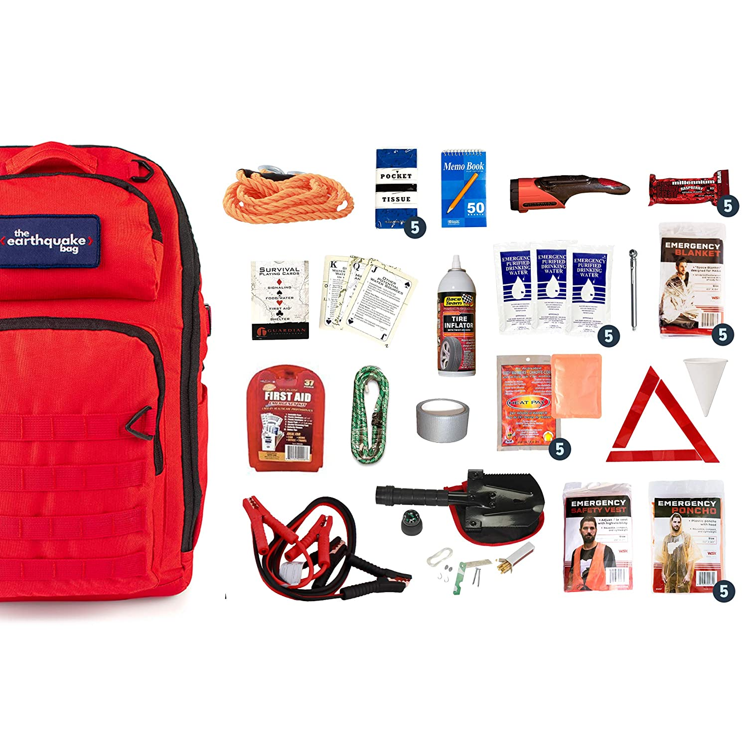 - Stay Safe on The Road 5 People no Matter What Comes up Complete Car Emergency Kit