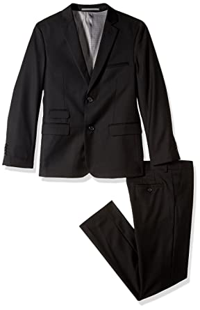 49e20419490c Amazon.com  Isaac Mizrahi Boys  Solid 2pc Slim Fit Wool Suit  Clothing