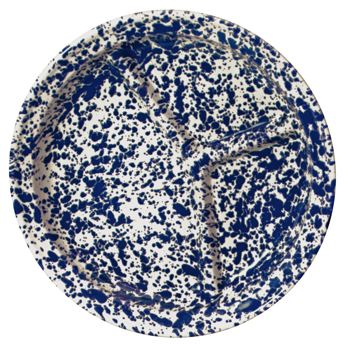 Crow Canyon Divided Camp Plate (Navy Cream Marble)