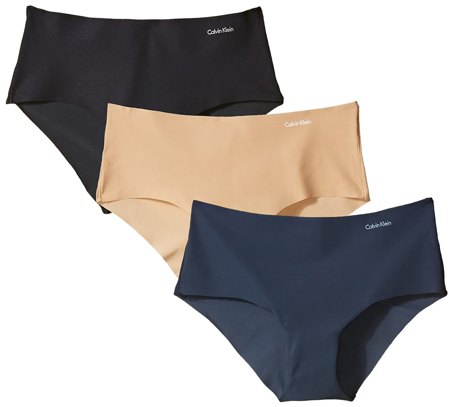 Calvin Klein Women's Invisibles 3 Pack Hipster Panty QD3559
