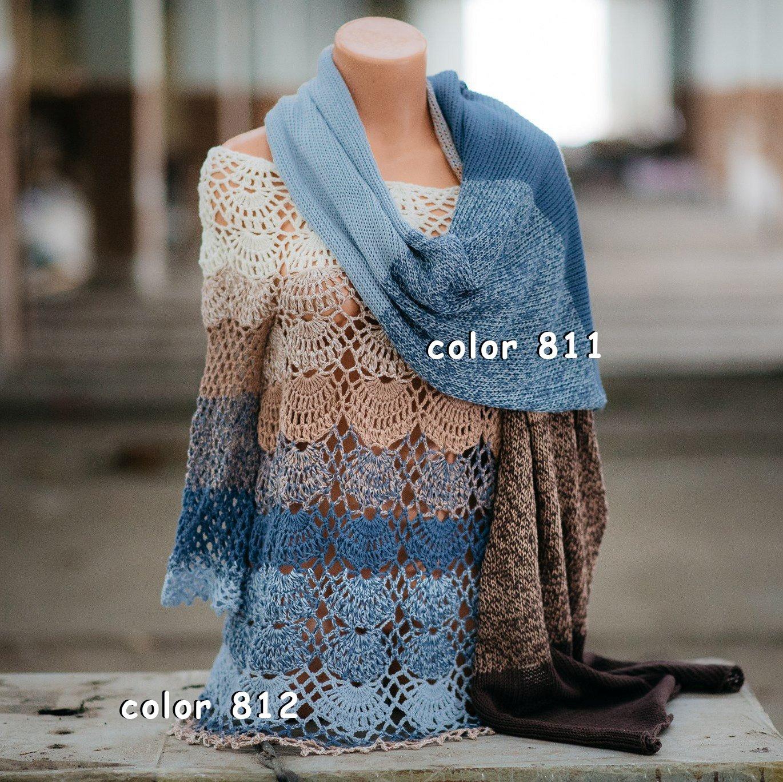 ZuzuHobby Unique Cotton Yarn, Multicolor, Wonderful Knitting Roll, Hand Knitting, Crocheting, 9,88 Ounces / 984 Yards (811) by ZuzuHobby (Image #5)
