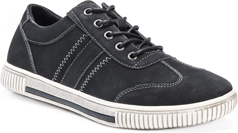 MUK LUKS Mens Nick Shoe-Black Sneaker