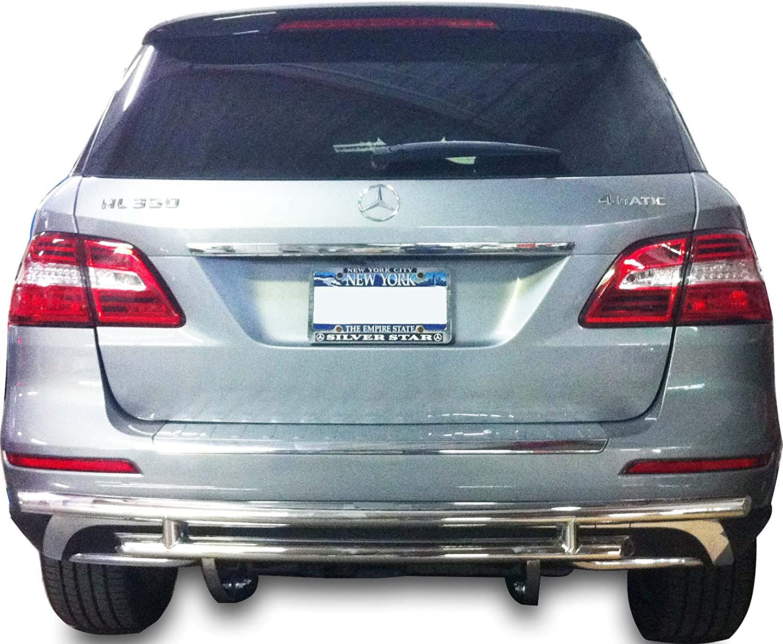 Fits:Mercedes Benz ML W166 2012-2015 Broadfeet Rear Bumper Guard Double Layer